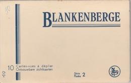 18/10/344  -   DÉPLIANT  10  CARTES  DE  BLANKENBERGE  ( BELGIQUE ) - Postcards