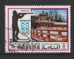 MiNr. 376 - 395  Ajman-Manama / 1971, 29. Jan. Olympische Winterspiele 1972, Sapporo (II). Odr.; A = Gez. K 14, B = . - Manama