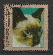 MiNr. 944  Ajman-Manama / 1972. Hunde Und Katzen. Odr.; A = Rahmen Goldfarben; A = Gez. L 13, B = . - Manama