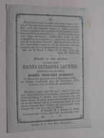 DP Joanna Catharina LAUWERS ( Bernaerts ) Mechelen 8 Dec 1792 - 18 Nov 1877 ( Zie Foto's Voor Detail ) ! - Avvisi Di Necrologio