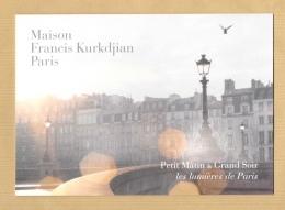 Carte Promo Double Perfume Card MAISON FRANCIS KURKDJIAN PARIS * 14,7 X 21 Cm * R/V (3 Photos) - Modernes (à Partir De 1961)