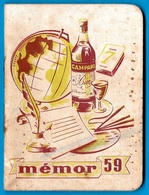 "En L'état Calendrier Publicitaire CAMPARI Memento ""Memor"" 1959 - Calendriers"
