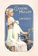 Product Advertising (beautiful Woman) Postcard Machine A Coudre Clemens Müller Dresden 1900 - Reproduction - Advertising