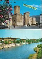 Lazio-latina-fondi Vedute Castello Baronale Rio Claro (nr°2 Cartoline) - Autres Villes