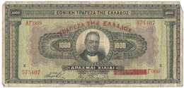 GREECE 1000 Drachmas 1926 (Grece, Drachmai, Drachmes, Griechenland, Griekenland, Grecia) - Greece