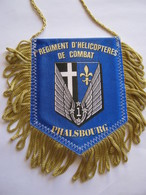 FANION DE VOITURE (BI FACE) REGIMENT HELICOPTERES DE COMBAT 1° RHC 1° GAOA PHALSBOURG ETAT EXCELLENT - Drapeaux