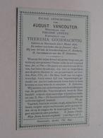 DP August VANCOUTER ( Lippens / Goormachtig ) Swevezeele 6 Maart 1838 - 29 Jan 1892 (zie Foto's Voor Detail) - Avvisi Di Necrologio