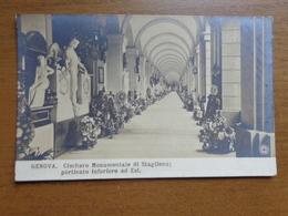 Italy - Italië / Genova, Cimitero Monumentale Di Staglieno: Porticato Inforiore Ad Est --> Unwritten - Genova (Genoa)
