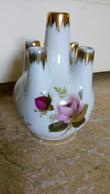 Porcelaine De France - Vase Boule Pour Quelques Fleurs... - Rose & Dorure - Porcelaine - Vers 1950 - Unclassified