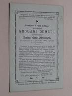 DP Edouard DEMETS ( Deroissart ) Renaix 31 Dec 1839 - 15 Juin 1890 (zie Foto's Voor Detail) - Obituary Notices