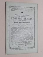 DP Edouard DEMETS ( Deroissart ) Renaix 31 Dec 1839 - 15 Juin 1890 (zie Foto's Voor Detail) - Décès