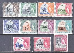 BASUTOLAND  61-71  **  Wmk. 4 - Basutoland (1933-1966)