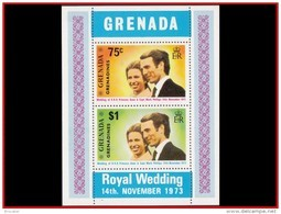 Grenada BL0001 Princesse Anne Et Capt. Mark Phillips 1973 - Grenade (1974-...)