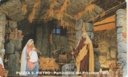 SCHEDA TELEFONICA NUOVA VATICANO SCV8 PIAZZA SAN PIETRO PRESEPE - Vaticano