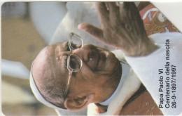 SCHEDA TELEFONICA USATA VATICANO SCV38 PAPA PAOLO VI - Vaticano