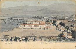 Smyrne (Izmir, Turquie) - Caserne Turque Et La Rade - Carte Colorisée Dos Simple, Non Circulée - Turchia