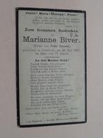 DP Marianne BIVER ( Peter GOOSSE ) Gestorben GROSBOUS 20 Mai 1907 Im Alter Von 77 Jahre (zie Foto's Voor Detail !! ) ! - Décès