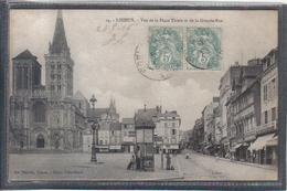 Carte Postale 14. Lisieux  Place Thiers Et Grande-Rue Très Beau Plan - Lisieux