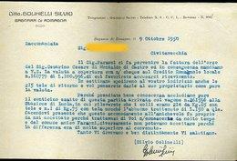 79 BAGNARA DI ROMAGNA 1950 , DITTA GOLINELLI SILVIO , LETTERA INTESTATA - Italie