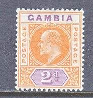 GAMBIA  43  *  Wmk. 3  1904-09  Issue - Gambia (...-1964)