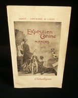 ( Chiens Canidés ) CATALOGUE OFFICIEL EXPOSITION CANINE NANTES 1933 SAINT-HUBERT DE L'OUEST - Dieren