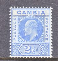GAMBIA  45  *  Wmk. 3  1904-09  Issue - Gambia (...-1964)