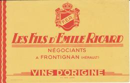 Buvard Vins Emile Ricard, Frontignan - Buvards, Protège-cahiers Illustrés