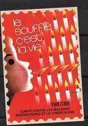 """France: Grande Vignette De 12 X 8 Cm (Le Souffle C'est La Vie """"sans Valeur""""1987/88) - Commemorative Labels"""
