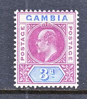 GAMBIA  46  *  Wmk. 3  1904-09  Issue - Gambia (...-1964)