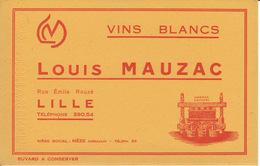 Buvard Vins Blancs, Louis Mauzac, Rue Emile Rouzé à Lille - Buvards, Protège-cahiers Illustrés