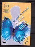 """Erinnophilie: Vignette Adhésive  12 X 8 """"Le Cancer Du Poumon On Peut L'éviter 10f  1998-1999 - Commemorative Labels"""