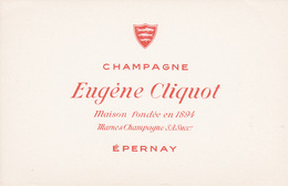 Buvard Champagne Eugène Cliquot à Epernay - Buvards, Protège-cahiers Illustrés