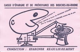 Buvard Caisse Epargne Des Bouches Du Rhône, Signé - Banque & Assurance