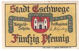 Deutschland Notgeld 50 Pfennig Mehl352.1 ESCHWEGE /12M/ - [11] Emissions Locales