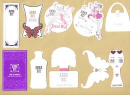 10 X Cartes Parfumées Perfume Cards ANNA SUI * Toutes Différentes *** 1 EX - Modernes (à Partir De 1961)