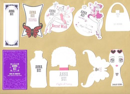 10 X Cartes Parfumées Perfume Cards ANNA SUI * Toutes Différentes *** 1 EX - Modern (from 1961)