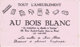 Buvard Au Bois Blanc, 28 Rue A Caplet, LE HAVRE, Meubles De Cuisine - Buvards, Protège-cahiers Illustrés