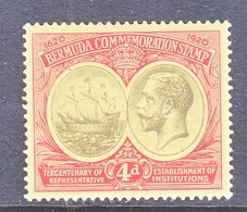 BERMUDA  59  *  Wmk. 3  1920-21  Issue - Bermudes