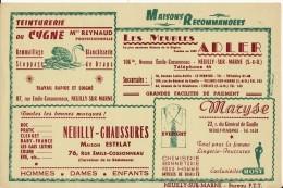 Buvard, Publicité , Commerces NEUILLY Sur Marne ( Avenue Cossonneaux  ) - Buvards, Protège-cahiers Illustrés