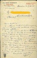84 CANINO 1942 DITTA ARTURO ARCHIBUSACCI , INDUSTRIA BOSCHIVA E OLIO D'OLIVA , LETTERA INTESTATA - Italien