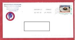 Y&T N°GARDIEN DE LA MEMOIRE ROYAN  Vers TONNAY CHARENTE    2018 - France