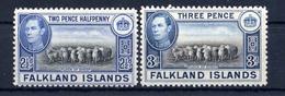 Falkland, Yvert 81&81A, SG 151&153, Scott 87&87A, MNH - Falkland