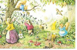 Illustrator - Racy Helps - Bunny, Lapin, Hase, Picking Blackberries, Champignon, Pilze, Mushroom, Frog, Frosch, Mouse - Andere Illustrators