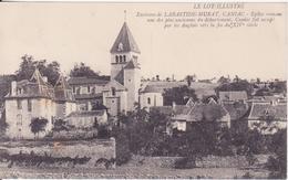 CPA - ENV DE LABASTIDE MURAT - CANIAC église Romane - France