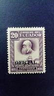 Equateur Ecuador 1936 Darwin Service Surchargé Overprint OFICIAL Yvert S154 * MH - Equateur