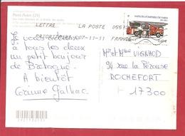 Y&T N° 4590 PONT AVEN   Vers  ROCHEFORT     2011 2 SCANS - France