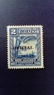 Equateur Ecuador 1936 Darwin Service Surchargé Overprint OFICIAL Yvert S156 * MH - Equateur