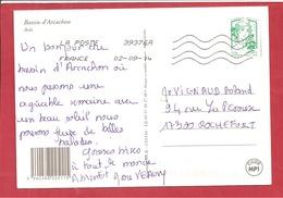 Y&T N° 4778 ROULETTE  ARCACHON   Vers  ROCHEFORT     2014 - Frankrijk