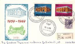 Fdc Rodia:  EUROPA (1969); Raccomandata; AS_Mirano (VE) - F.D.C.