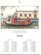 CAL228 - CALENDARIETTO 1966 - DIMENSIONI 13X17.5 - EVOLUZIONE DELLA GONDOLA - VENEZIA - Calendari